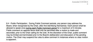 Excerpt from Oakland Township Board Bylaws