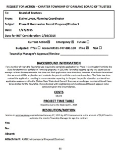 Feb 10, 2015 Stormwater permit proposal: contract