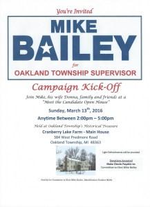 Mike Bailey Campaigne Kick-0ff