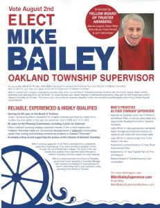 Mike Bailey flier
