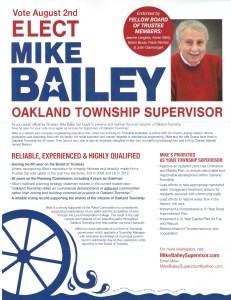 Mike Bailey flier