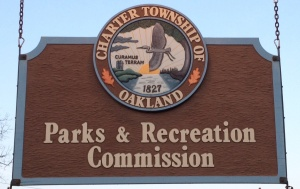 Parks Commission sign